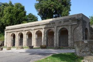 The portico of the sanctuary of Juno Sospita at Lanuvium (Lanuvio, Italy).