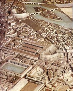 Model of the ancient Campus Martius around AD 300.