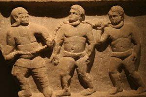 Roman collared slaves (Ashmolean Museum)