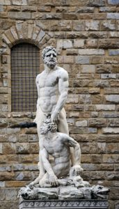 Statue of Heracles and Cacus in Florence