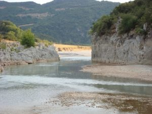 View of Acheloos river, in Evritania, Greece