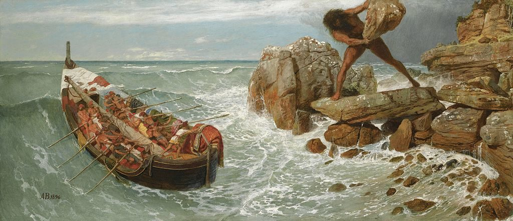 Odysseus and Polyphemus, by Arnold Bocklin (1896)